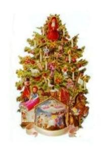 Victorian Christmas Tree and Nativity