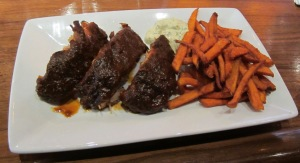 Ribs and Sweet Potato Fries