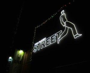 Street Restaurant Sign