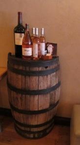 Wine Barrel Half Table