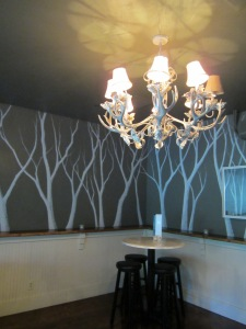 Wall Trees and Antler Chandelier