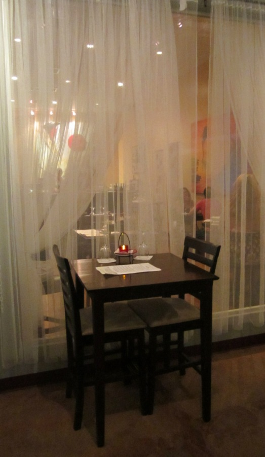 Curtained Table