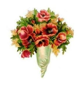 Bouquet of Flowers in Paper Cone 02